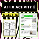 Affixes Activity 2