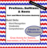 Prefixes, Suffixes, and Roots Activity