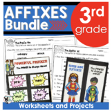 AFFIXES BUNDLE Contains Powerful Prefixes & Superhero Suffixes