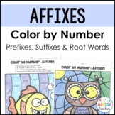Affixes Color by Number (Prefixes, Suffixes, and Root Words)