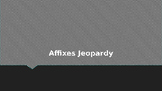 Affixes Jeopardy