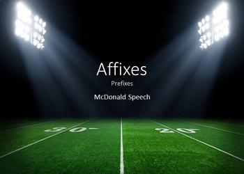 Affixes - Prefixes
