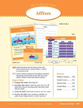 Affixes (Take It to Your Seat Centers: Common Core Language)