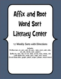 Affixes and Root Sort Literacy Center (Common Core Aligned L.4.4)