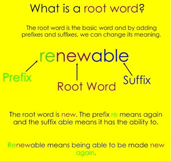 Affixes and Root Word Review