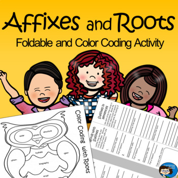 Affixes and Roots - Foldable and Color Coding Activity