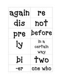 Affixes flashcards