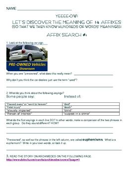 Affixes from the Illinois Standardized Test ISAT - Scavenger Test Prep