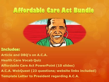 Affordable Care Act Lesson Bundle : Contemporary Issues
