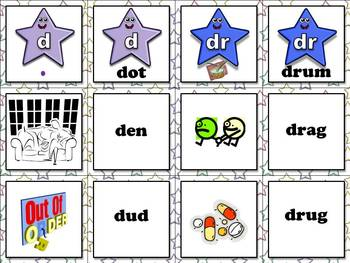 Affricates Matching Game Sort - Word Study Feature D4 ch, dr, tr, j, d