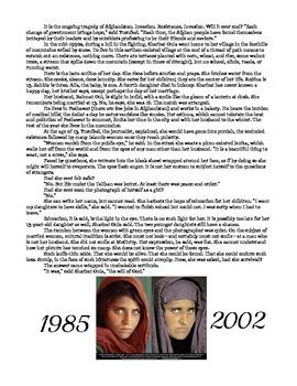 Afgan Girl Handout & Reading