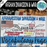 Afghanistan Invasion and War Review Page and PowerPoint