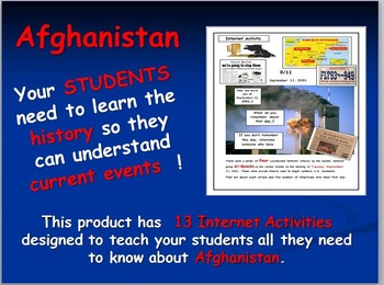 Afghanistan Map and Internet Activities