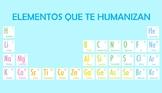 Afiche de tabla periódica de valores