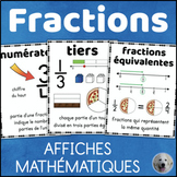 Fractions FRENCH Math Posters Affiches