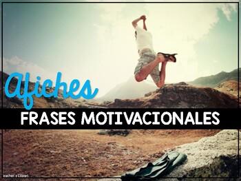 Afiches de frases motivadoras para decorar el aula