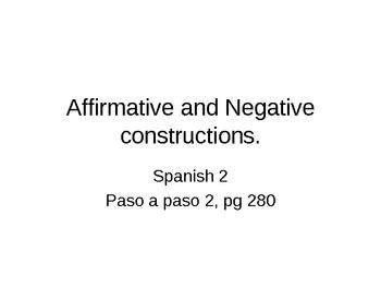 Afirm/Neg Contstruction