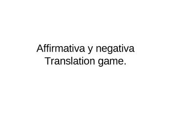 Afirmative/Negative