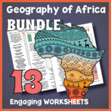 No Prep Africa Geography - Countries of Africa Word Search