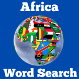 Africa Geography Activity | Wordsearch