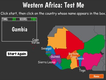 Smartboard Africa Geography Game