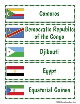Africa Word Wall: African Countries