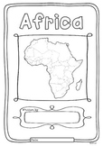 Africa 55 Countries Study - worksheets with maps and flags