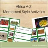 Africa A-Z Montessori Pack