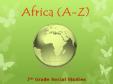Africa (A-Z) Vocabulary Warm-up / Bellringers (GSE-aligned)