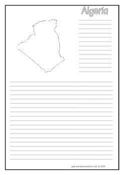 Africa ~ A to Z Countries Blank Outline Maps & Notebooking Pages