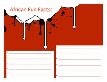 Africa Activity (Make a Brochure)