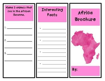 Africa Activity (Make a Brochure)