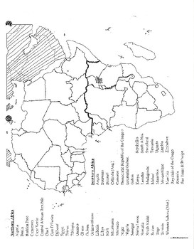 Map Of Africa Fill In The Blank.Africa Blank Map Cw Puzzle Test