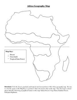 Africa Blank Political and Geography Maps