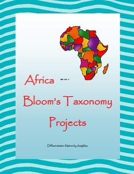 Africa Bloom's Taxonomy Project Task Cards based on CCSS