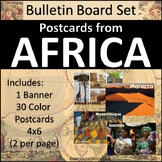 Africa Bulletin Board Set - Postcards