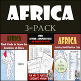 Africa Bundle: Latitude & Longitude, Flash Cards, & Country Identification Quiz