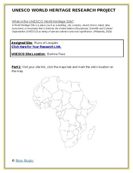 Africa: Burkina Faso- Ruins of Loropéni Research Guide