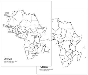 African Capital Cities Map