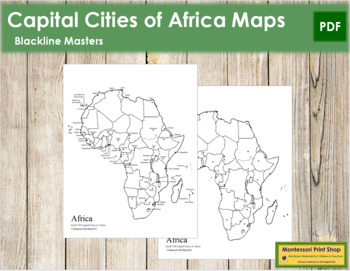 Africa Capital Cities Map