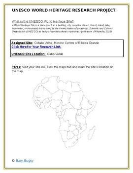 Africa:  Cidade Velha, Historic Centre of Ribeira Grande Research Guide