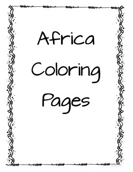 Africa Coloring Pages