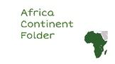 Africa Continent Folder