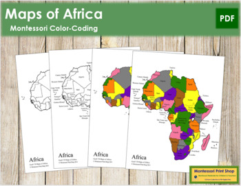 Africa Control Maps and Masters - Montessori