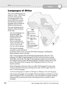 Africa: Culture: Languages