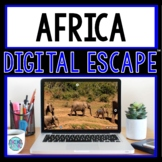 Africa DIGITAL ESCAPE ROOM for Google Drive® | Distance Learning | Continents