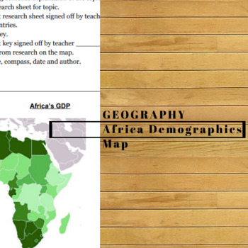 Africa Demographic Mapping Project by Constructive History | TpT on