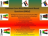 Africa Document Based Questions (DBQs) - 363 DBQs and 12 Different Topics!!