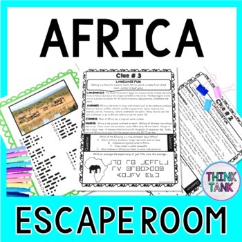 Africa ESCAPE ROOM: All About Africa - Continents- Geography