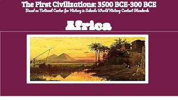 Africa: 3100 BCE - 32 BCE